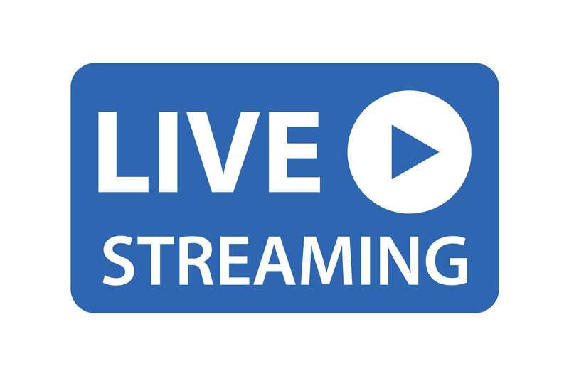 blue live streaming icon